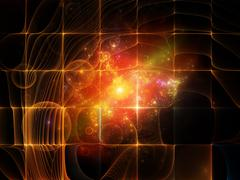 Virtual Particle Grid Stock Illustration