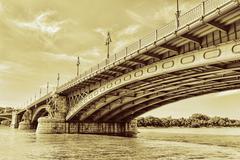 Renewed Margit Bridge in the Budapest - stock photo