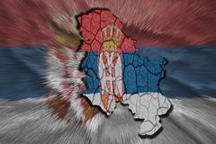 Stock Illustration of serbian map