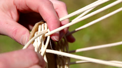 Basket weaving Stock Footage