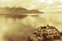 Chillon Castle, Montreux, Switzerland - stock photo