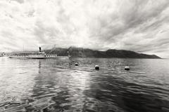 Panorama Geneven järven höyrylaiva, Montreux Kuvituskuvat