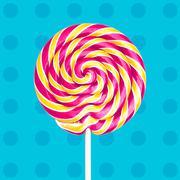 Colorful spiral lollipop Stock Photos