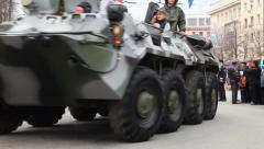BTR-80 - Russian armored personnel carrier Stock Footage