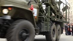 Russian missiles at a car Ural. Stock Footage
