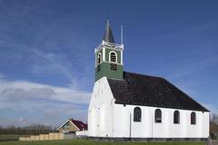 Seamen's Church in Oudeschild on Texel. Stock Photos