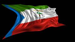 Flag of Equatorial Guinea Stock Footage