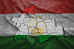 Tajikistan map Stock Illustration