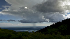 Rain and storm clouds formation, Varese - stock footage