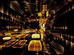 Evolving Virtual Space Stock Illustration