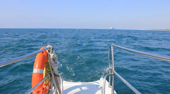 Floating boat Stock Footage