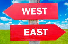 Stock Illustration of east or west