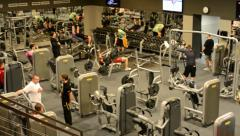 People train in fitness, gym. Workout. Stock Footage