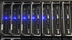 4K UHD ULTRA HD (Dell Blade Servers) Kulltech Stock Footage