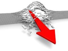 Breakthrough - stock illustration