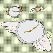 Time flies clocks Stock Illustration