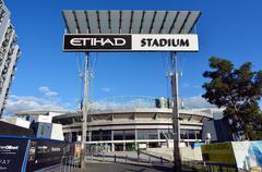 docklands etihad stadium - melbourne - stock photo