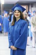 Graduation girl smiling Kuvituskuvat