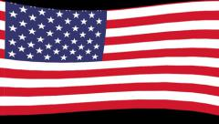 America Flag Loop HD Stock Footage