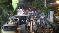 PROTESTERS RIOT POLICE CHAOS Stock Footage
