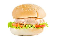 Big hamburger fast food Stock Photos