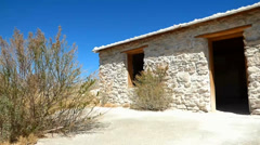 Abandoned Stone Building in the Desert - stock footage