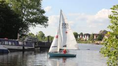 Sailing past Stock Footage