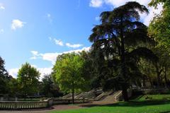 Darcy park in Dijon Stock Photos