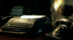 Film noir typewriter 4k Stock Footage