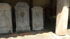 Asian ancient statues Stock Footage