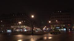 Paris - France - Night - Streets - HD Stock Footage