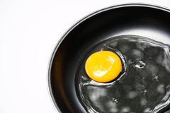 Egg in pan Stock Photos