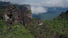 Mountain Ridge Trees Rocky Stock Footage