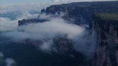 Mountains Ridge Cliffs Clouds Stock Footage
