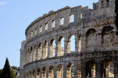 Roman amphitheater of Pula (Croatia) - stock photo
