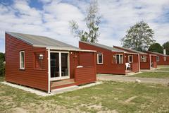 Camping houses Stock Photos