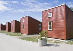 Camping houses - stock photo