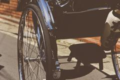 Rickshaw in Kyoto Stock Photos