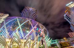 Macau, china - apr 18, 2014: night lights of grand lisboa casino. the casino  Stock Photos