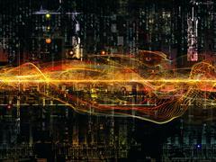 Advance of Digital Network - stock illustration