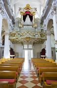 Organ in church at Dubrovnik, Croatia - stock photo