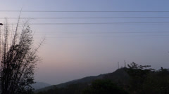 Stock Video Footage of A sunset view in a rural hilly region at north-east India