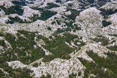 Hilltops in Biokovo nature park - stock photo