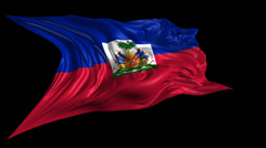 Flag of Haiti Stock Footage