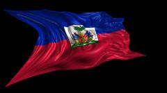 Flag of Haiti - stock footage
