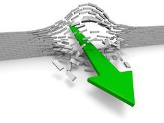 Breakthrough Stock Illustration