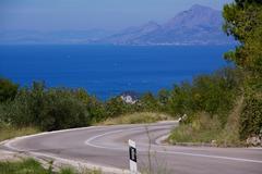 Road to Makarska - stock photo