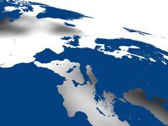 European continent Stock Illustration