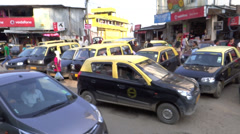 Traffic congestion in Kohima the capital city of Nagaland - stock footage