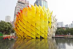 Mid-autumn lantern carnival in Hong Kong - stock photo